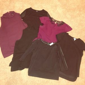 Lot of 6 women's Ann Taylor tops size XL